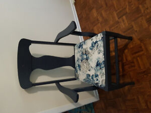 Refinished Queen Anne captain's chair, perfect accent piece!