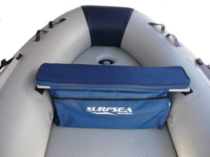 PADDED SEAT CUSHION WITH UNDERSEAT STORAGE FOR INFLATABLE BOATS
