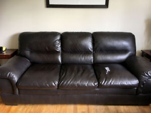 Matching Sofa and Love Seat (Bonded Leather)