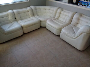 5 Piece Leather look Sectional $250 OBO