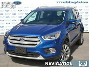 2018 Ford Escape Titanium  Sunroof, 4WD, Leather Seats