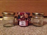 Mini jam jars with accessories