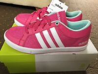 Brand new size 4 Adidas Neo Skool K Pink