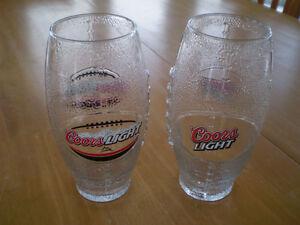 COORS LIGHT FOOTBALL BEER GLASSES Windsor Region Ontario image 1