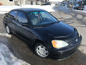 Black Civic 2002 Loaded,All Stock,New Windshield,ACTIVE STATUS^^