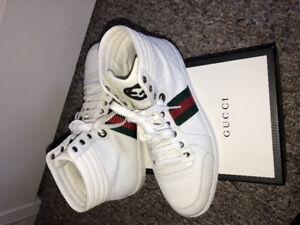 White High-top Gucci Sneakers