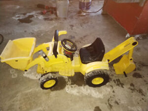 Battery operated ride on digger