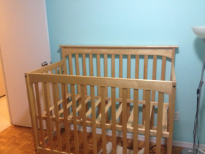 Nursery Furniture Set: Crib, Dresser/Change Table and Side Table