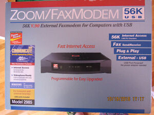NEW Zoom USB External v56 Fax Modem
