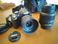 Nikon D3200 + 18-55mm + 35mm 1.8 + sac - Excellente condition