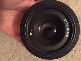 Sony 50mm 1.8 Lens