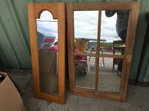 Mirrors wood framed