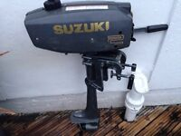 Outboard Suzuki 2hp (great runner) for boat or dinghy