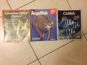 3  Aquarian fish and plant books