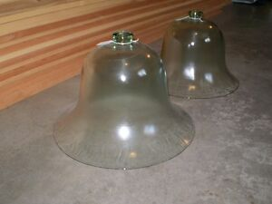 Victorian Antique Glass Bell Covers or Cloches