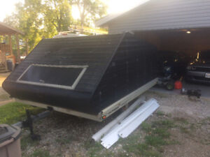 10 foot enclosed snowmobile sled trailer