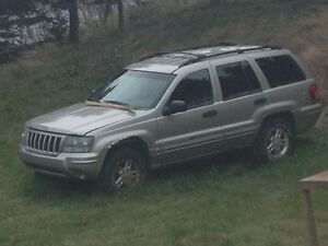 2004 Jeep Grand Cherokee, Parts only.