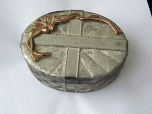Jewellery Box, vintage, silver/gold. put engagement ring in it.
