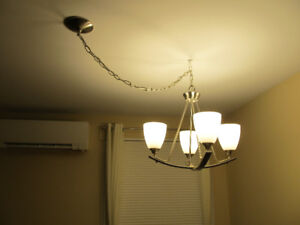 BRAND NEW BRUSHED NICKEL DINING ROOM FIXTURE