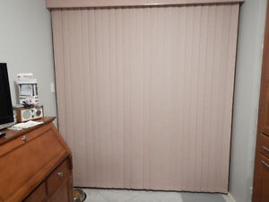 "Brand new Levelor vertical blinds still in box 84"" x 90"""