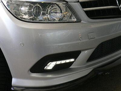 USA 08-10 MERCEDES W204 C CLASS Non-AMG Bumper LED Daytime Running DRL Fog Light