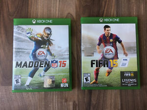 Madden 15 and Fifa 15 - Xbox One