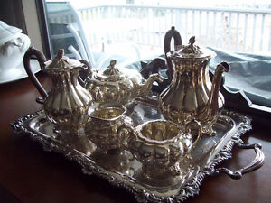Gorgeous silver plated Birks Tea Service set with tray