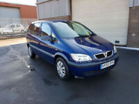 2005 55 VAUXHALL ZAFIRA 1.6i 7 SEATER ONLY 84,934 MILES WARRANTED