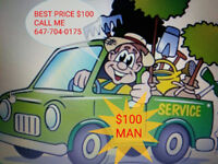 $100 Tree cutting.............647-704-0175...........all cities.
