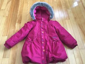 Manteau d'hiver rose - 2T