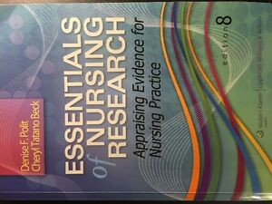 University of windsor 3rd yr Nursing Research textbook
