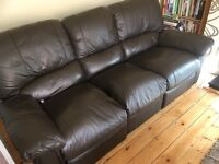 Leather type recliner
