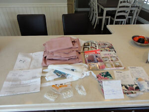 Drape or Table Cloth Material, Accessories &Instructions All $14 Kitchener / Waterloo Kitchener Area image 1