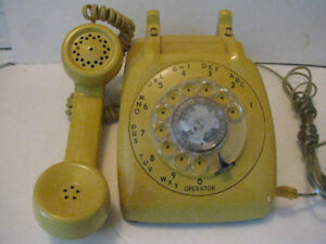 Dial Phone Automatic Electric Cool Yellow..