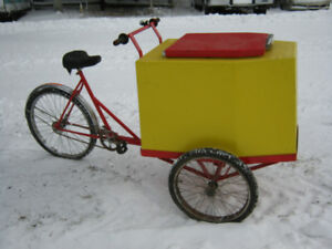 Ice cream bycicle, bicyclette a creme glacée