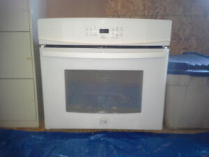 Kenmore white wall oven