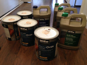 All in one wood cleaner and behr deck over for decks