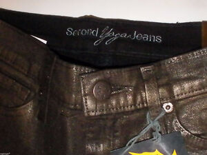 Second Yoga Jeans Sky Rise Slim Flare Brown NEW sizes 29 and 30 West Island Greater Montréal image 3