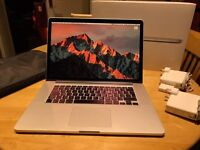 MacBook Pro 15 inch Retina - Mid 2014 - 16gb RAM - 512gb SSD - AppleCare