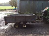 Galvanised twin axle trailer