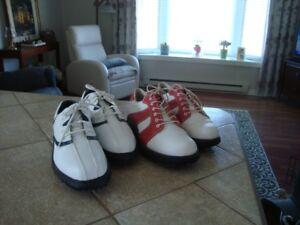 2 paires de souliers de golf femme