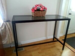Bar Style Table with Glass Top A1 Condition