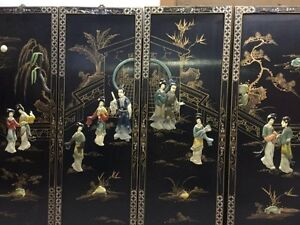 Chinese 4 panel decorative wall art West Island Greater Montréal image 2
