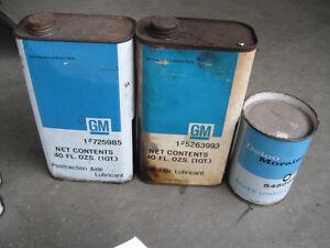 1940s 1950s 1960s Original Factory GM Auto Tins