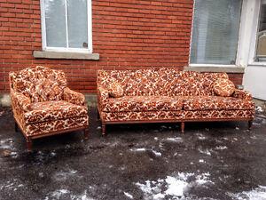 Sofa et Fauteuil Vintage Kitsch en EXCELLENTE Condition