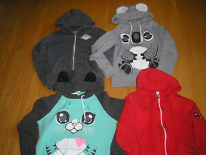 Assortment of Girl's  Long Sleeved Hoodies - to fit 10 yr. old.