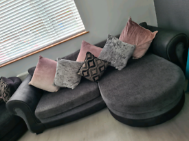 Dfs 4 seater sofa and cuddler chair