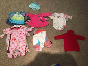6 months baby girl clothes lot