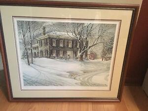 "1986 Trisha Romance Winter Twilight 32x27"" framed by Alcove"