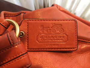 COACH legacy burnt orange handbag. REDUCED London Ontario image 4
